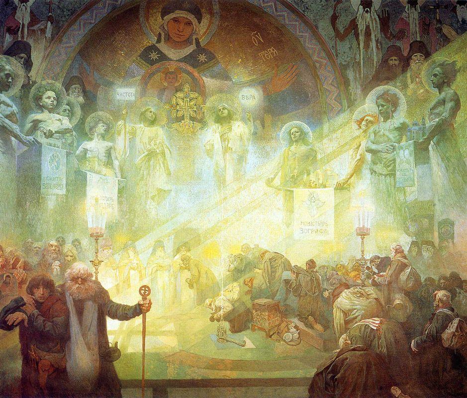Holy Mount Athos - Alphonse Mucha