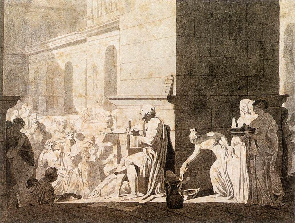 Homer Reciting his Verses to the Greeks - Jacques-Louis David