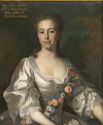 Hon. Mary Townshend, the daughter of Charles Townshend, 2nd Viscount Townshend of Raynham and Dorothy Walpole - Allan Ramsay