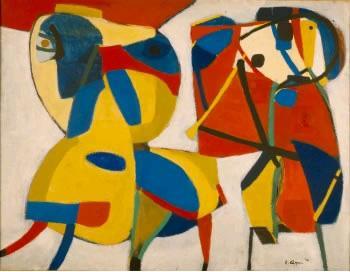 Horse and Flute Player - Karel Appel