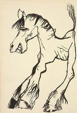 Horse Smiling - Lucian Freud