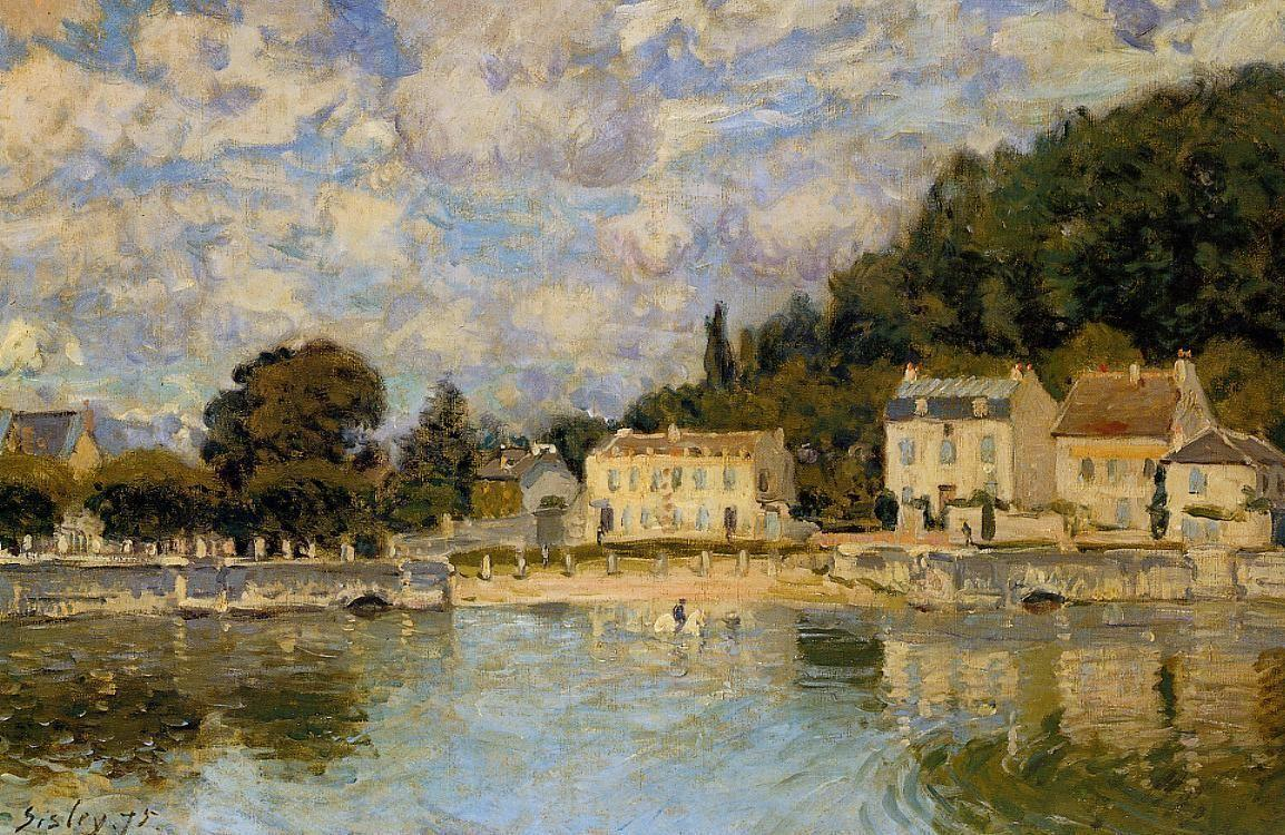 Horses being Watered at Marly le Roi - Alfred Sisley
