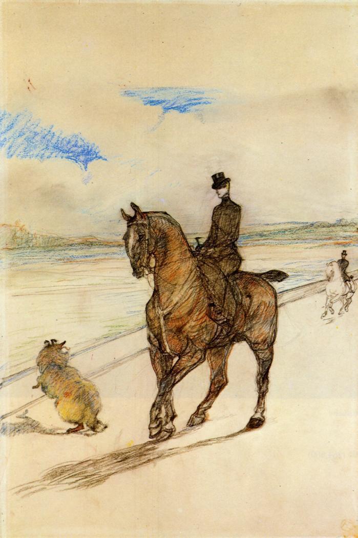 Horsewoman - Henri de Toulouse-Lautrec