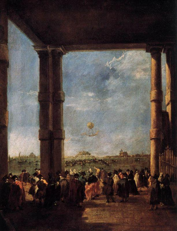 Hot Air Balloon Rising - Francesco Guardi