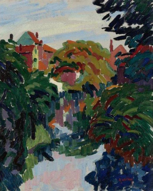 House at the Water - Auguste Herbin