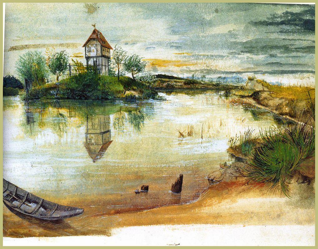 House by a Pond - Albrecht Durer