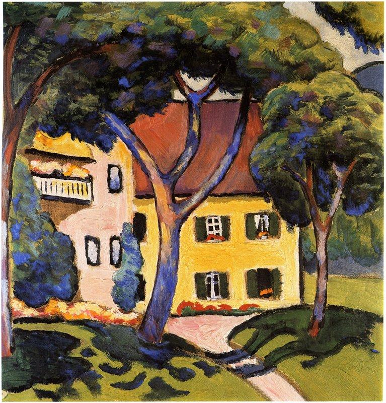 House in a Landscape  - August Macke
