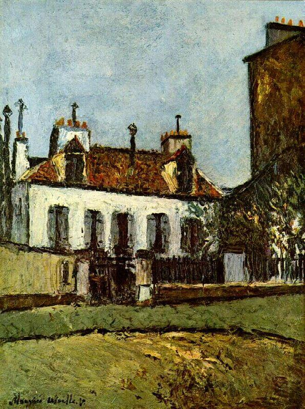 House in the Suburbs of Paris - Maurice Utrillo