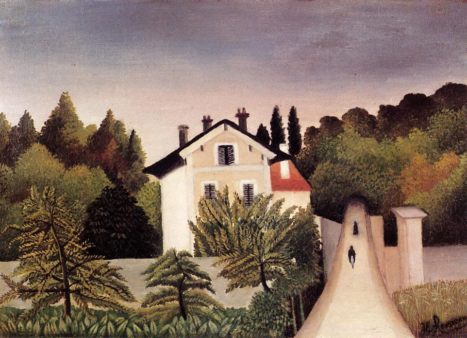 House on the Outskirts of Paris - Henri Rousseau