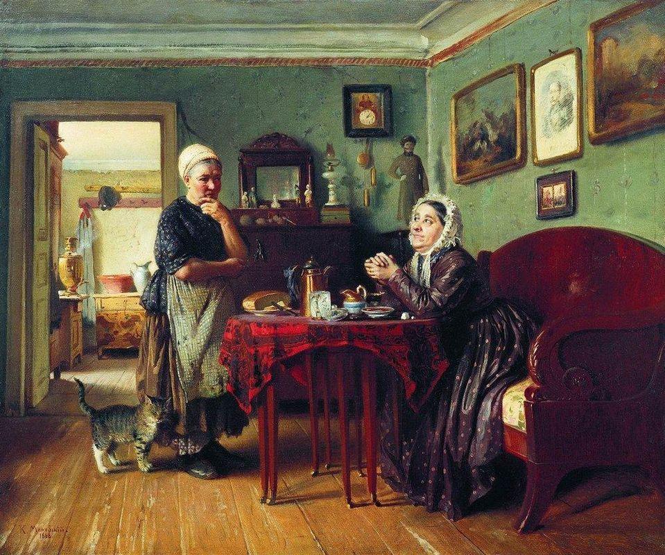 Household Conversation - Konstantin Makovsky