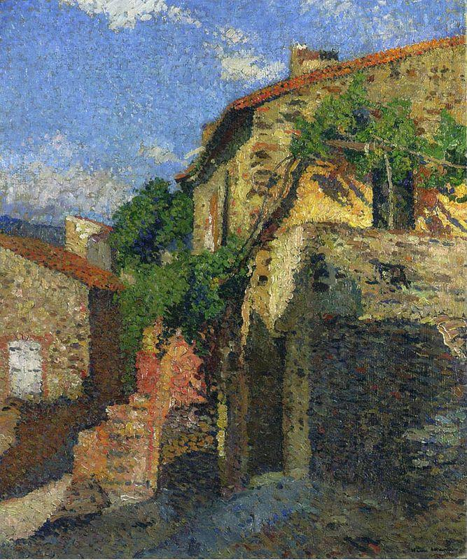 Houses at Collioure - Henri Martin
