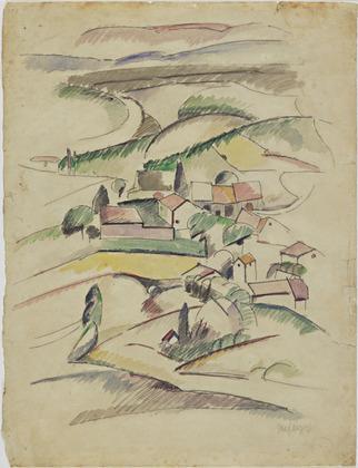Houses in a Valley - Albert Gleizes