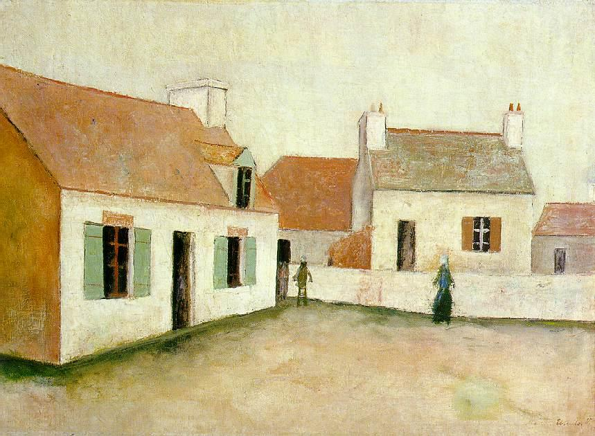 Houses in Ouessant - Maurice Utrillo
