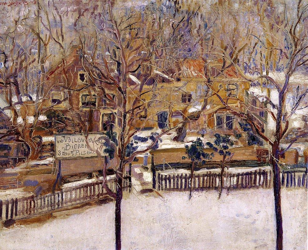 Houses in the snow print - Jan Sluyters