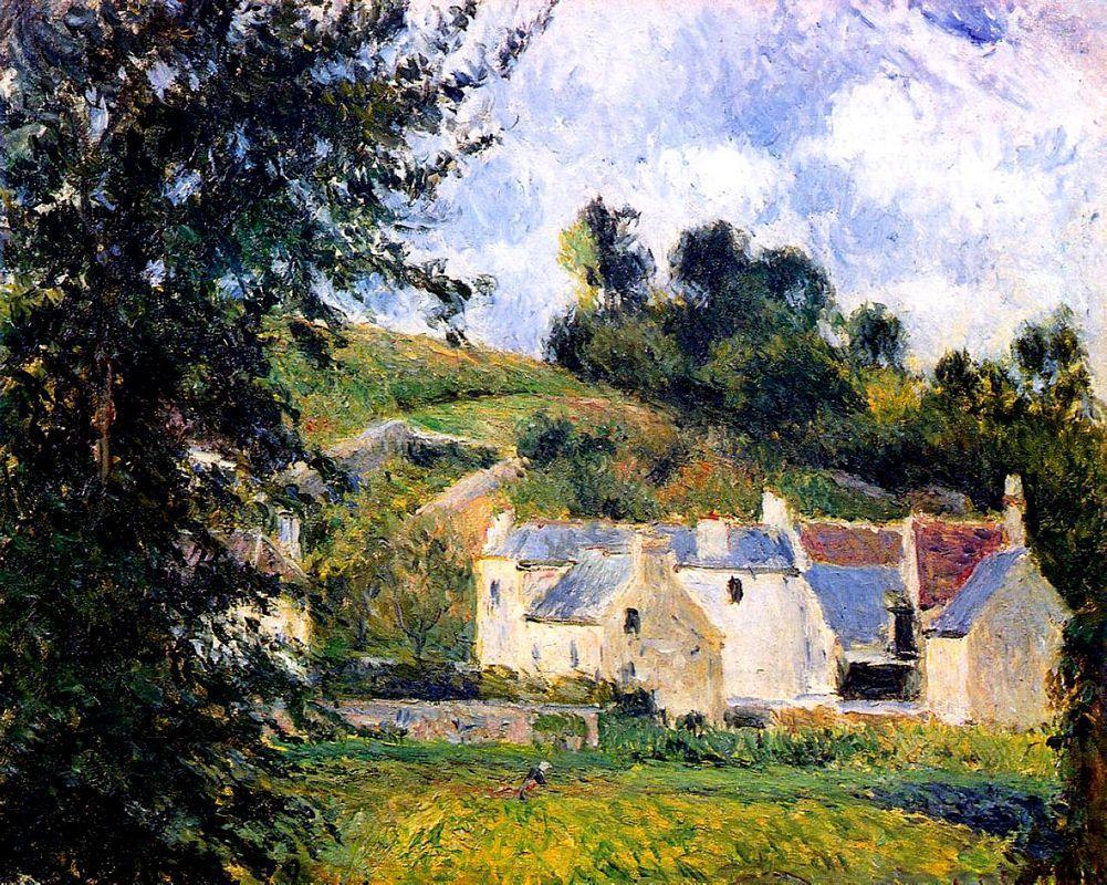 Houses of l'Hermitage, Pontoise - Camille Pissarro