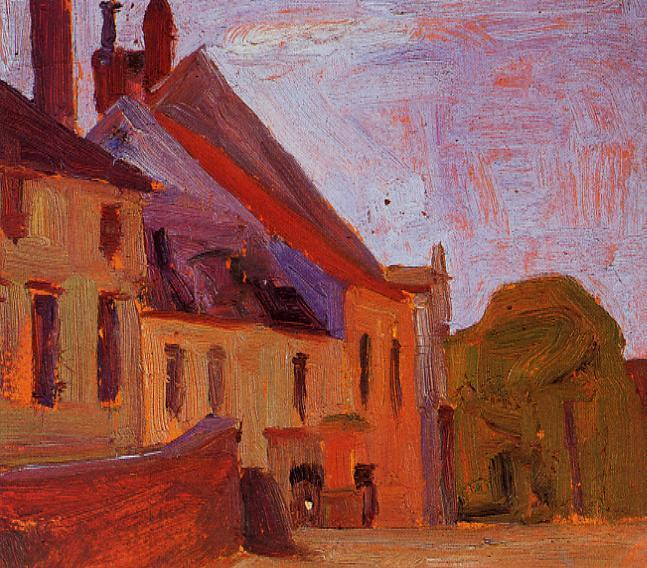 Houses on the Town Square in Klosterneuberg - Egon Schiele