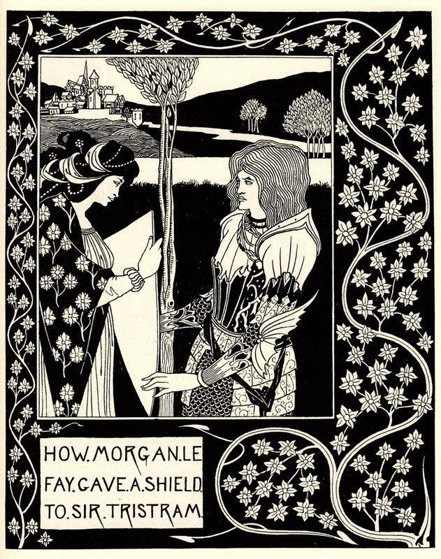 How Morgan Le Fay Gave a Shield to Sir Tristram - Aubrey Beardsley
