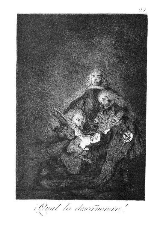 How they break her barrel - Francisco Goya