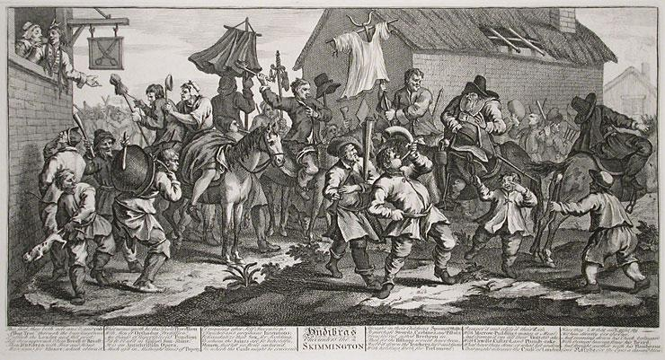 Hudibras Encounters the Skimmington, from 'Hudibras', by Samuel Butler - William Hogarth