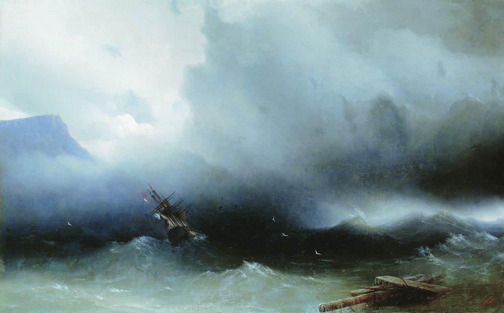Hurricane at the Sea - Ivan Aivazovsky
