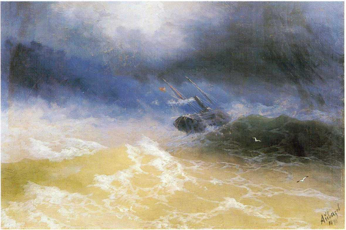 Hurricane on a sea - Ivan Aivazovsky
