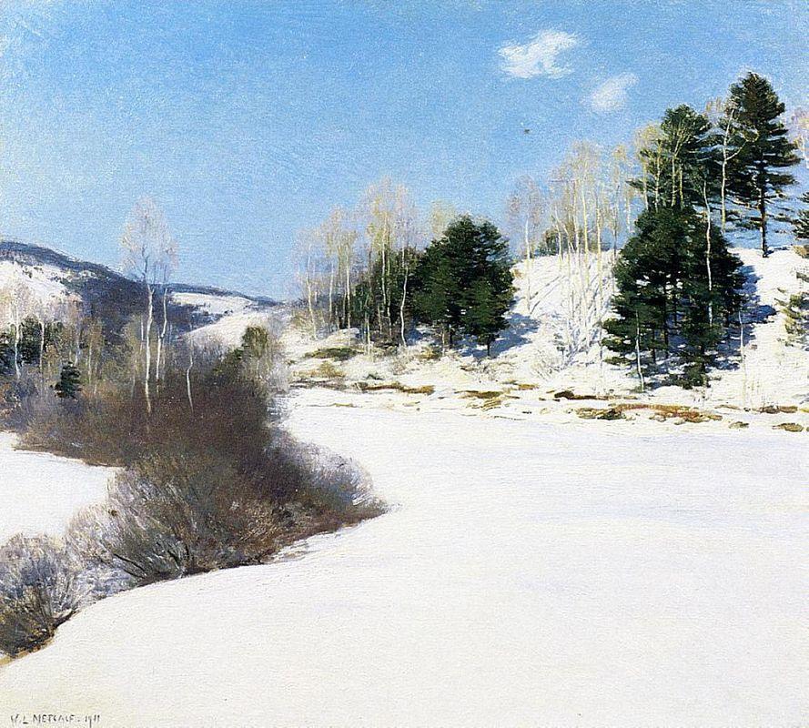 Hush of Winter - Willard Metcalf
