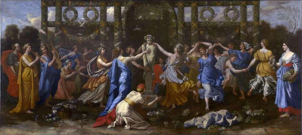 Hymenaios Disguised as a Woman During an Offering to Priapus - Nicolas Poussin