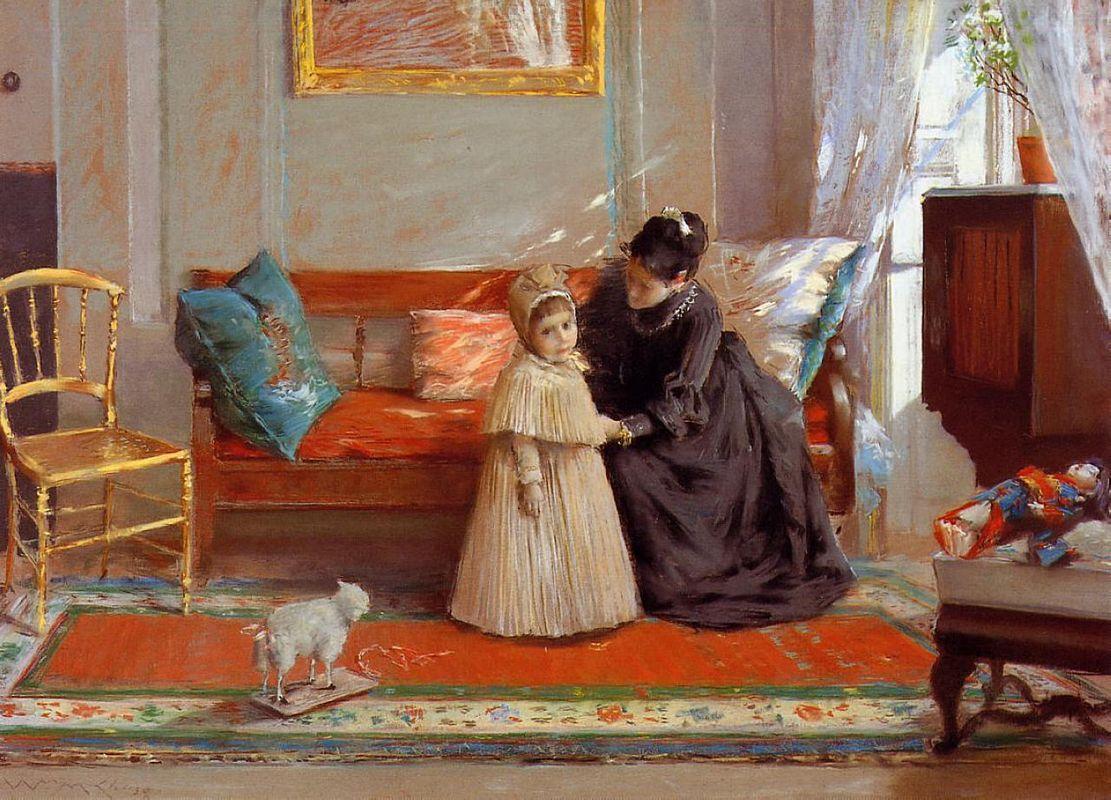 I am Going to See Grandma (aka Mrs. Chase and Child) - William Merritt Chase