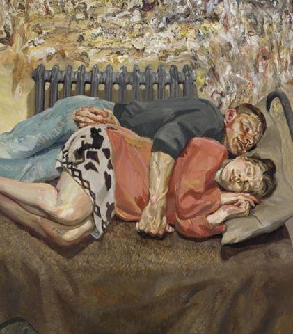Ib and her Husband - Lucian Freud
