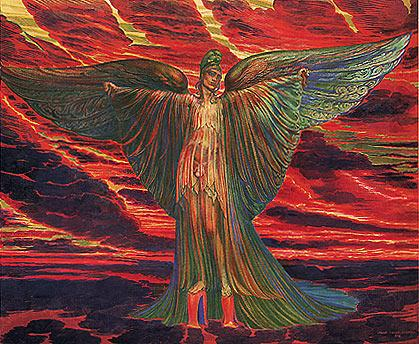ICARUS ON COTHURNI (from the Lohengrin Cycle) - Ernst Fuchs