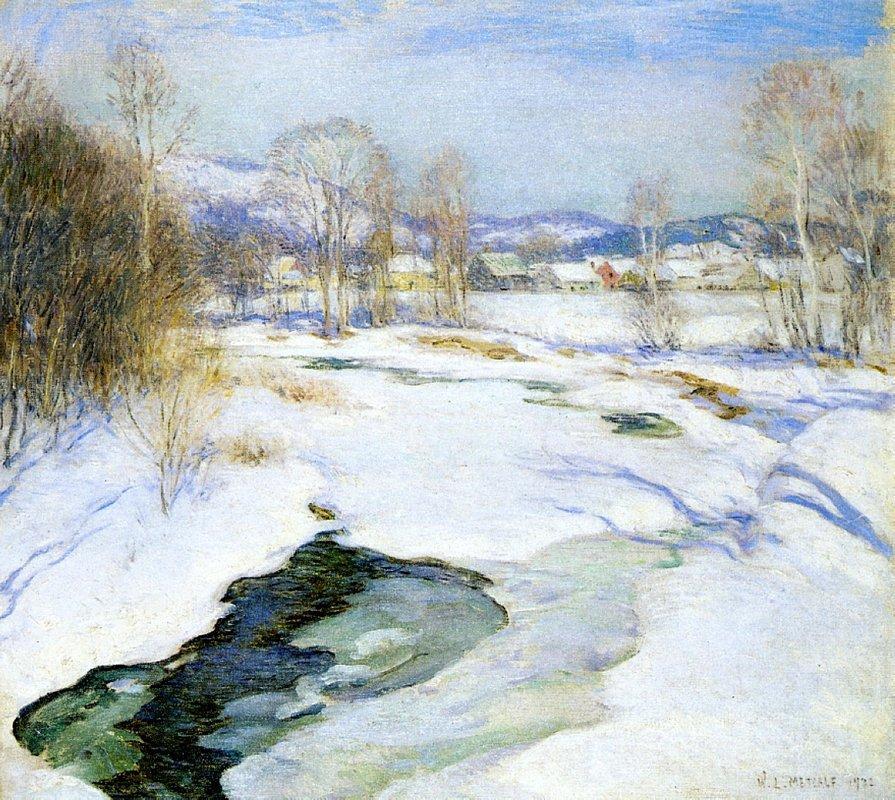 Icebound Brook (aka Winter's Mantle) - Willard Metcalf