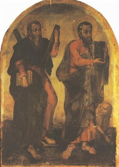 Icon of Apostles Andrew and Mark  - Yov Kondzelevych