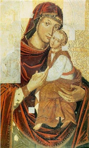Icon of the Mother of God from the Bilostok Monastery iconostasis  - Yov Kondzelevych