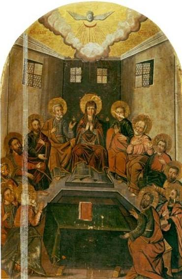 Icon The Descent of the Holy Spirit  - Yov Kondzelevych