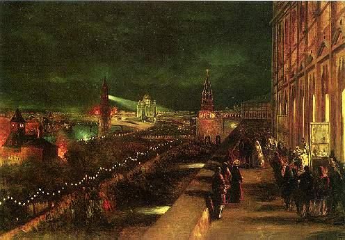 Illumination of Moscow on the occasion of the coronation in 1883 - Konstantin Makovsky