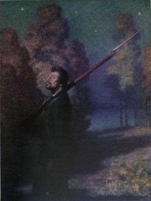 Illustration for poem The Picket Guard - N.C. Wyeth