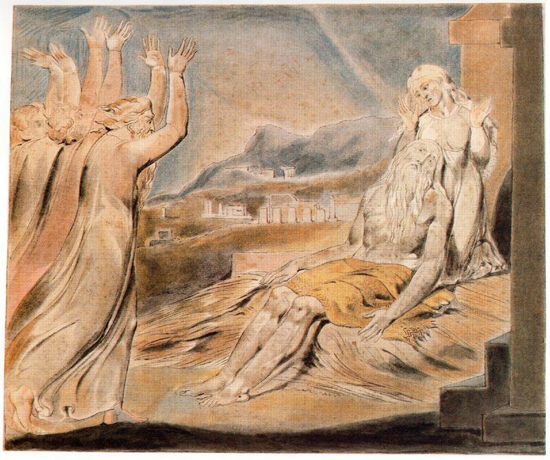 Illustration to Book of Job - William Blake