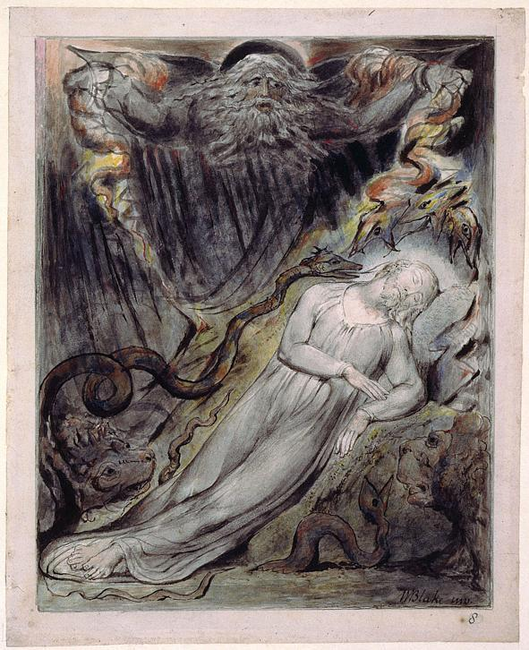 Illustration to Milton`s Comus  - William Blake