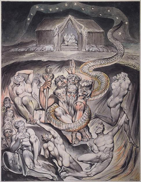 Illustration to Milton`s On the Morning of Christ`s Nativity  - William Blake