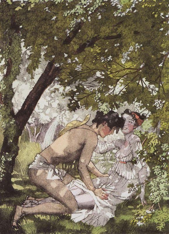 Illustration to the novel Daphnis and Chloe 2 - Konstantin Somov