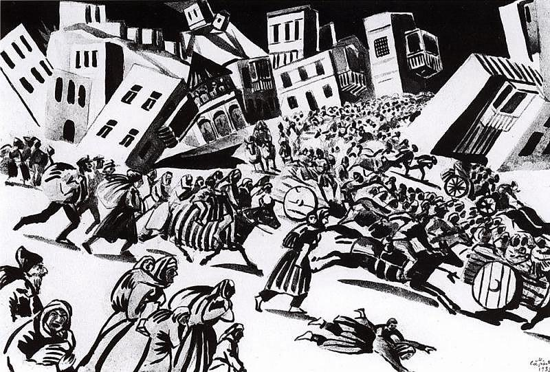 Illustration to Yeghishe Charents'
