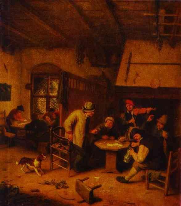 In a Tavern - Adriaen van Ostade