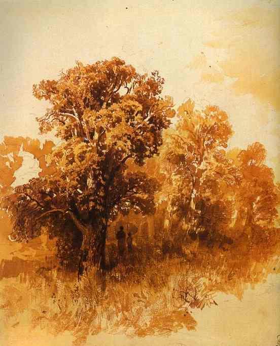 In an Oak Grove - Fyodor Vasilyev