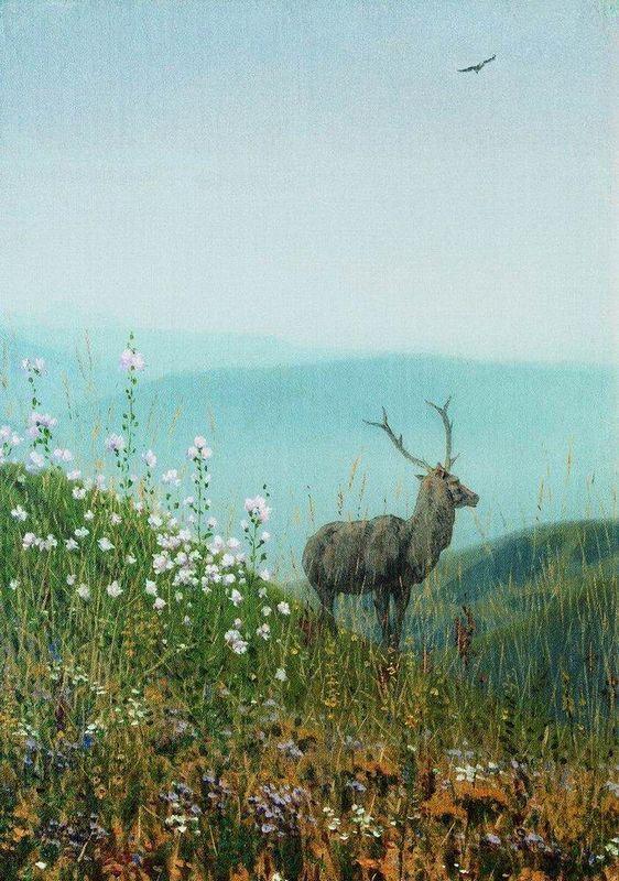 In the Alatau mountains - Vasily Vereshchagin
