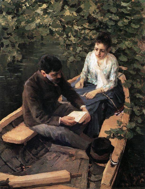 In the Boat - Konstantin Korovin