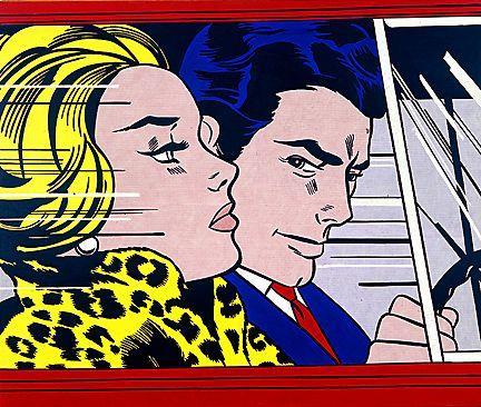 In the car - Roy Lichtenstein