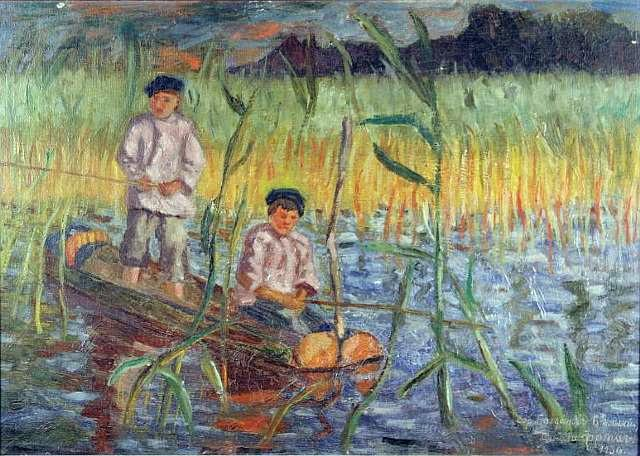 In the Cattails - Nikolay Bogdanov-Belsky