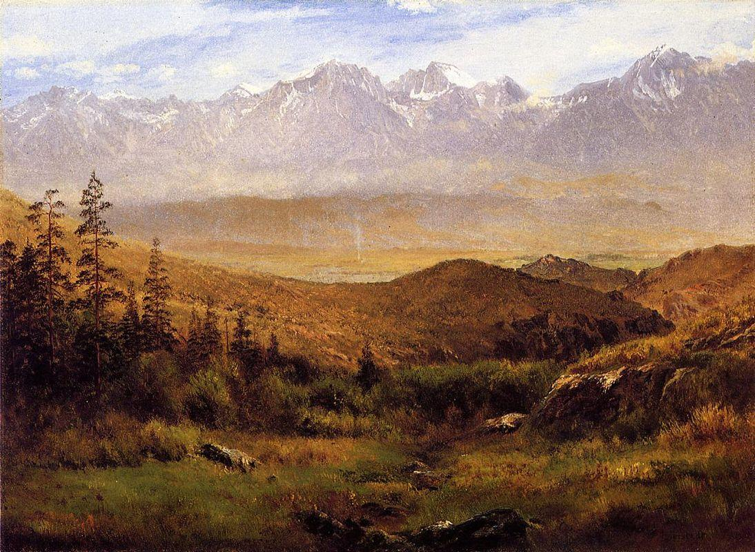 In the Foothills of the Mountains - Albert Bierstadt