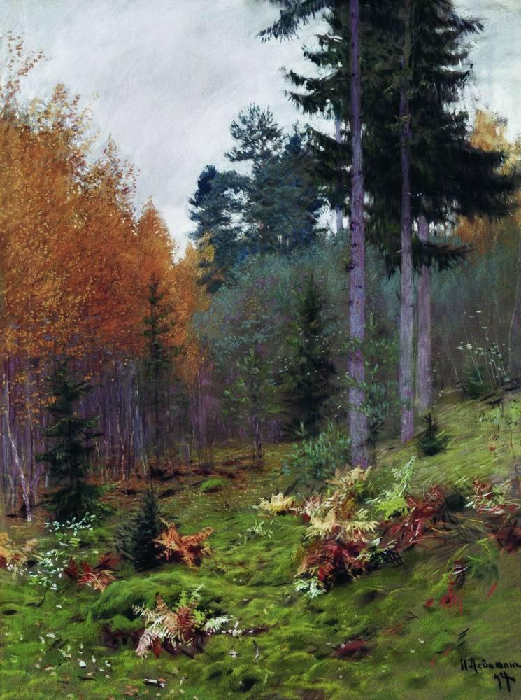 In the forest at autumn - Isaac Levitan