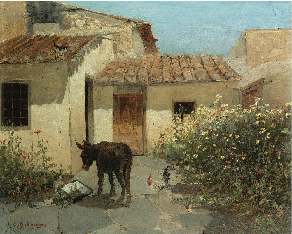 In the garden  - Konstantinos Volanakis